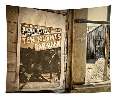 10 Nights In A Bar Room Tapestry
