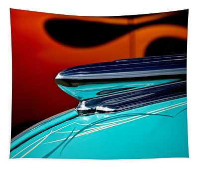 1948 Chevy Hood Ornament Tapestry