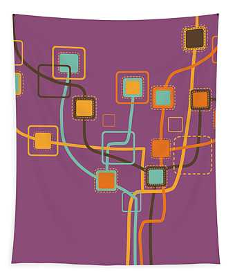 Graphic Tree Pattern Tapestry
