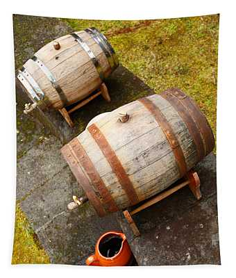 Wine Barrels Tapestry