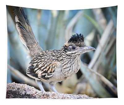 A Juvenile Greater Roadrunner  Tapestry