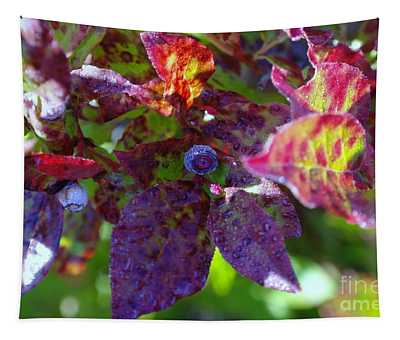 A Little Blue Berry Wet In The Morn Tapestry