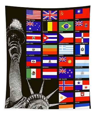 Allied Nations Fight For Freedom Tapestry