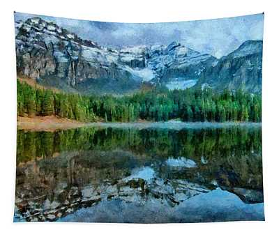 Alta Lakes Reflection Tapestry