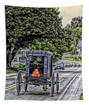 Amish Girl Tapestry