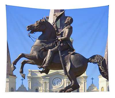 Andrew Jackson Statue Tapestry