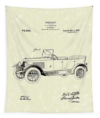 Automobile Bradfield 1920 Patent Art  Tapestry