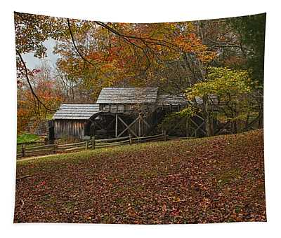 Autumn At Mabry Mill Tapestry