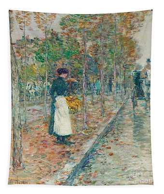 Autumn Boulevard In Paris Tapestry