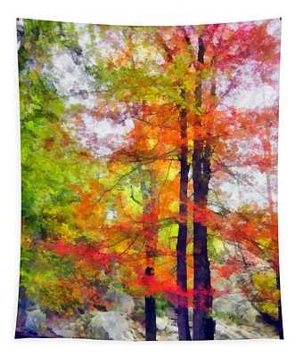 Autumnal Rainbow Tapestry