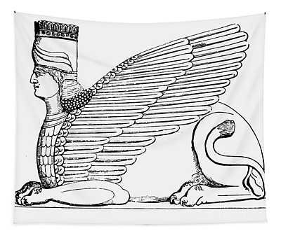 Babylonian Sphinx Tapestry