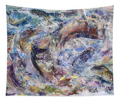 Bass Collage  Tapestry