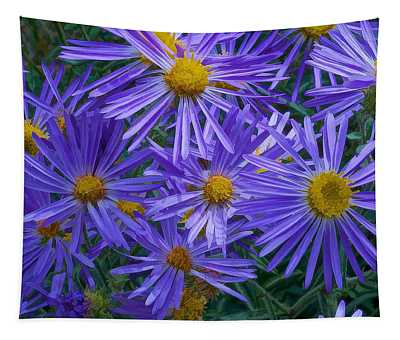 Blue Asters Tapestry