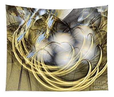 Blue Lullaby - Abstract Art Tapestry