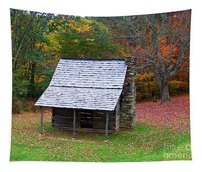 Blue Ridge Cabin Tapestry
