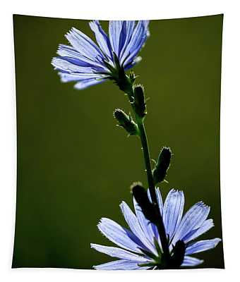 Blue Wildflower Tapestry