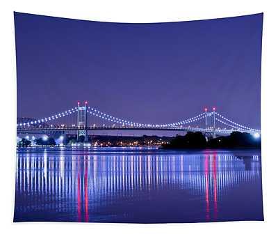 Tri-borough Bridge In Nyc Tapestry