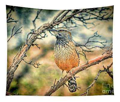 Cactus Wren Tapestry