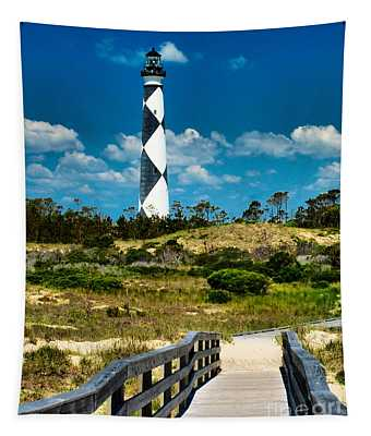 Cape Lookout Light Tapestry