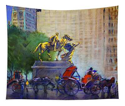 Carriage Rides In Nyc Tapestry