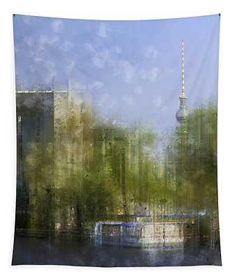 City-art Berlin River Spree Tapestry