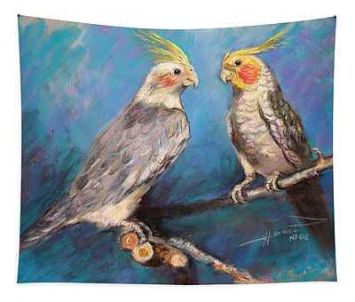 Coctaiel Parrots Tapestry