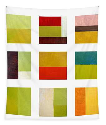 Color Study Abstract Collage Tapestry