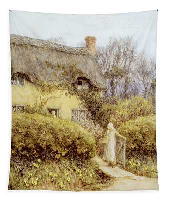 Cottage Near Freshwater  Tapestry