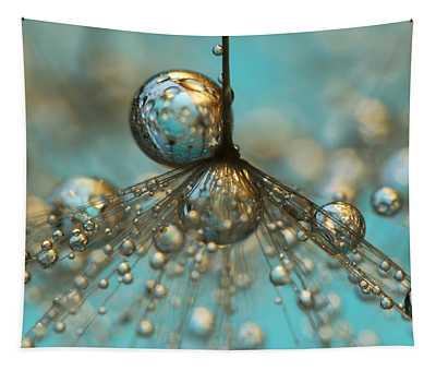 Dandy Shower In Silver And Blue Tapestry