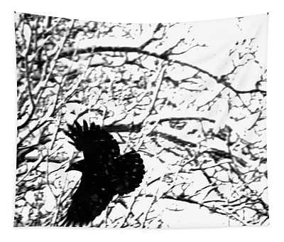 December Raven Tapestry
