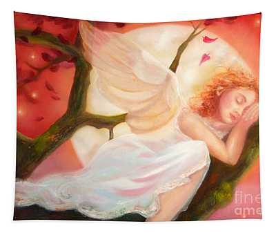 Dreams Of Strawberry Moon Tapestry