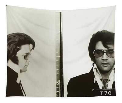 Elvis Mugshot 1970 Tapestry