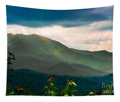 Emerald And Gold Tapestry by Scott Hervieux