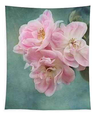 Enchanted Pink Rose Tapestry