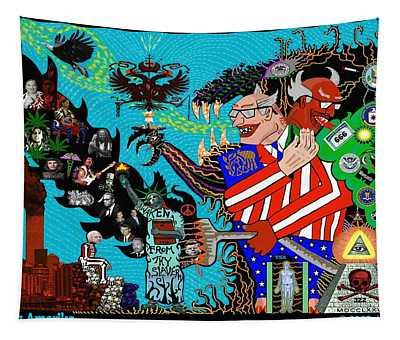 False Flag Amerika Tapestry by Myztico Campo