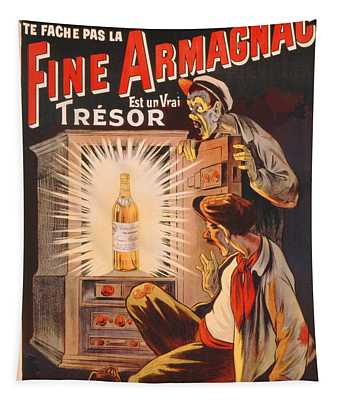 Fine Armagnac Advertisement Tapestry