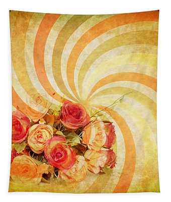 Flower Pattern Retro Style Tapestry