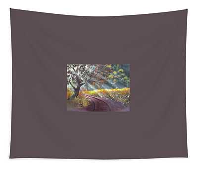 Forest Sunbeams Tapestry