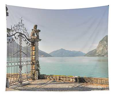 Gate On The Lake Front Tapestry