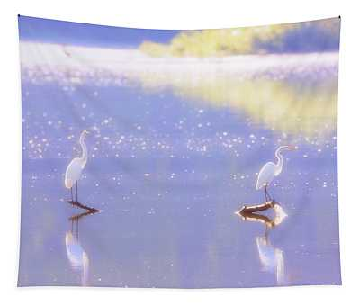 Great White Heron Tapestry
