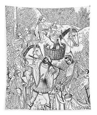 Gypsies, 15th Century Tapestry