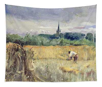 Harvest Field At Stratford Upon Avon Tapestry