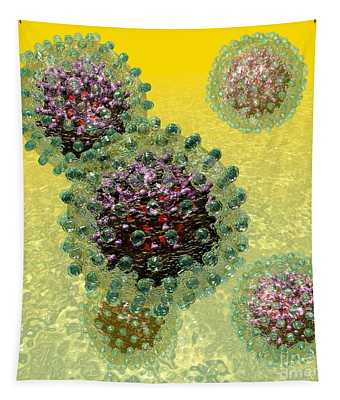 Hepatitis B Virus Particles Tapestry