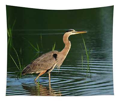 Heron Sunrise Tapestry