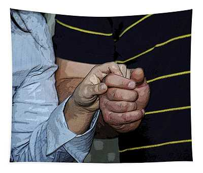 Holding Hands Tapestry