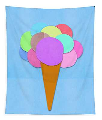 Ice Cream On Hand Made Paper Tapestry