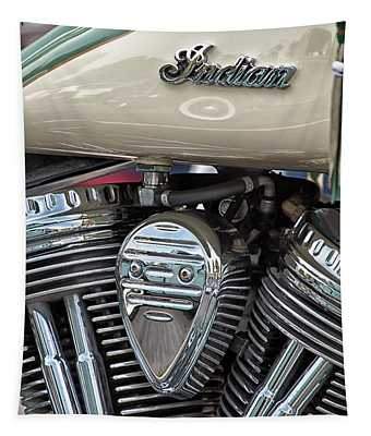 Indian Motorcycle Engine Tapestry