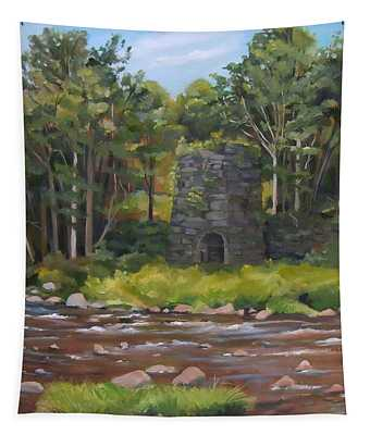 Iron Furnace Of Franconia New Hampshire Tapestry