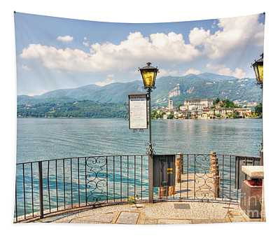 Island San Giulio On Lake Orta Tapestry