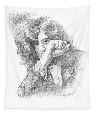 Jimmy Page In Person Tapestry